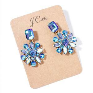 Jcrew icy blue crystal earrings